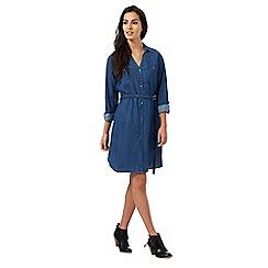 The Collection - Dark blue denim shirt dress