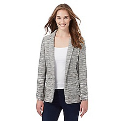 The Collection - Grey textured striped blazer