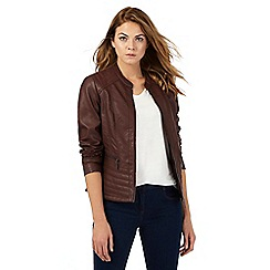 The Collection - Brown biker jacket