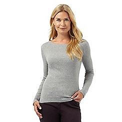 The Collection - Grey long sleeved scoop neck top