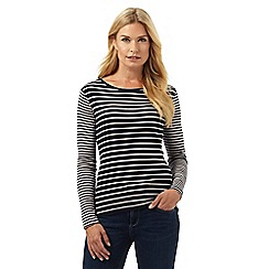 The Collection - Navy striped long sleeved top