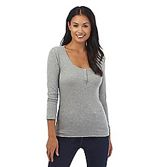 The Collection - Grey three quater length sleeve jersey top