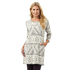 The Collection - Cream patterned tunic