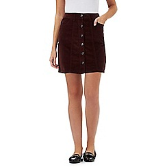 The Collection - Brown corduroy mini skirt