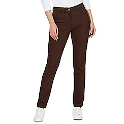 The Collection - Dark brown straight leg jeans