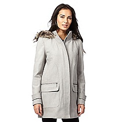 The Collection - Grey hooded duffle coat