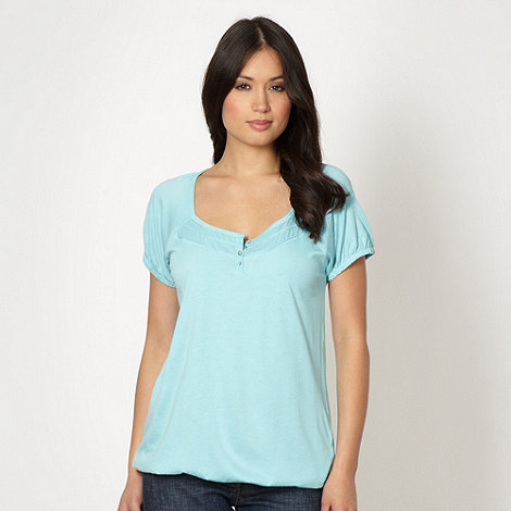The Collection - Aqua textured panel t-shirt
