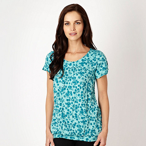 The Collection - Aqua dandelion crinkle top