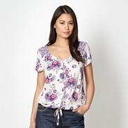 Grape floral short sleeved top