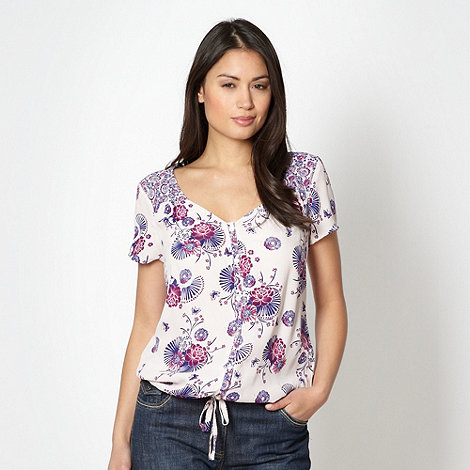 The Collection - Grape floral short sleeved top