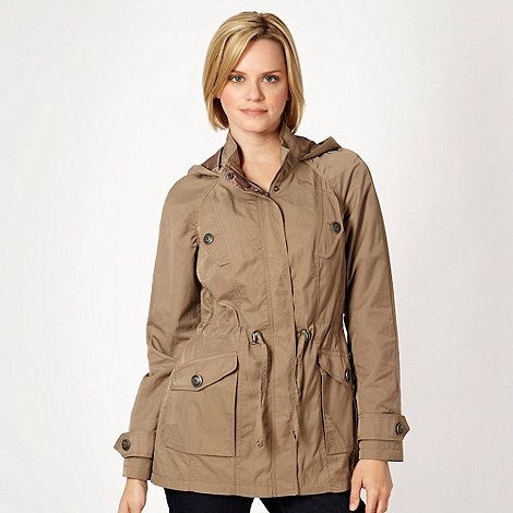 The Collection - Light brown hooded parka jacket