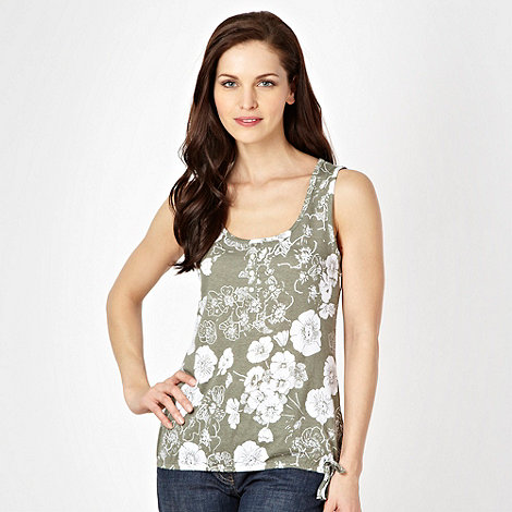 The Collection - Light olive floral vest top