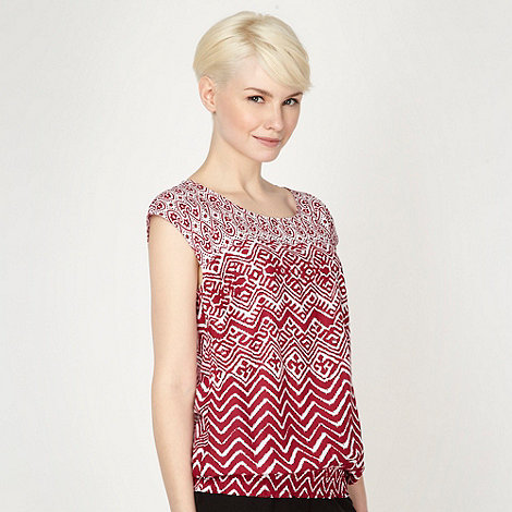 The Collection - Plum aztec printed top