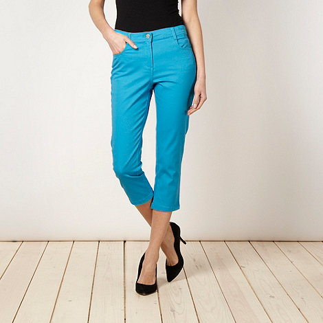 The Collection - Turquoise cropped jeans