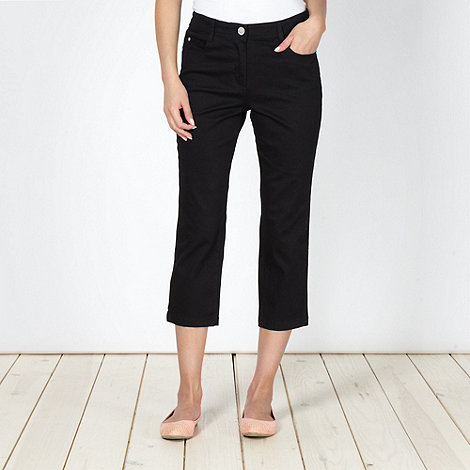 The Collection - Black cropped soft stretch jeans