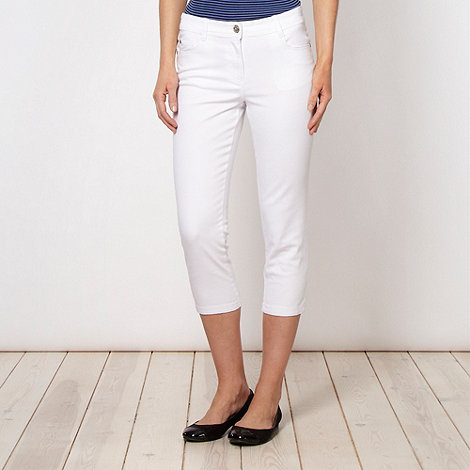 The Collection - White soft stretch denim cropped jeans