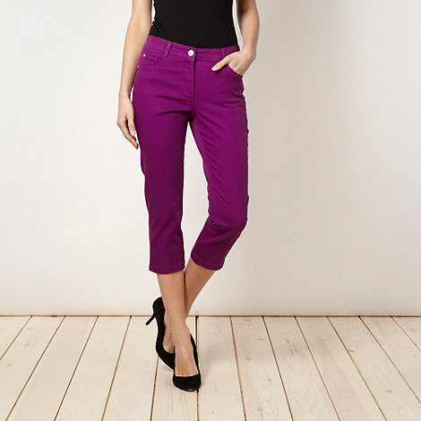 The Collection - Grape cropped jeans