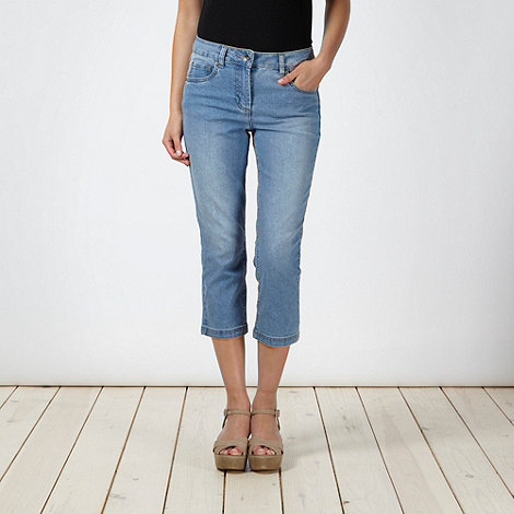 The Collection - Pale blue cropped stretch jeans