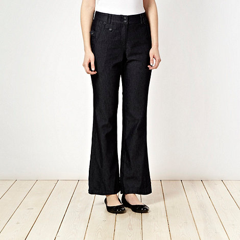The Collection - Navy denim look trousers