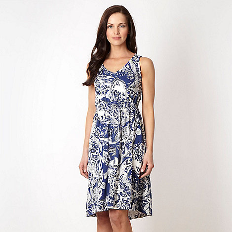 The Collection - Blue paisley sequin dress