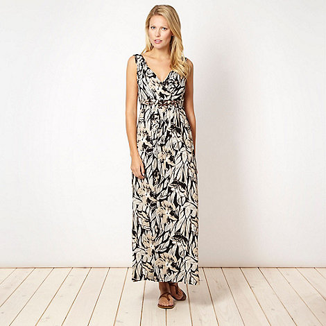 The Collection - Natural floral sketched jersey maxi dress