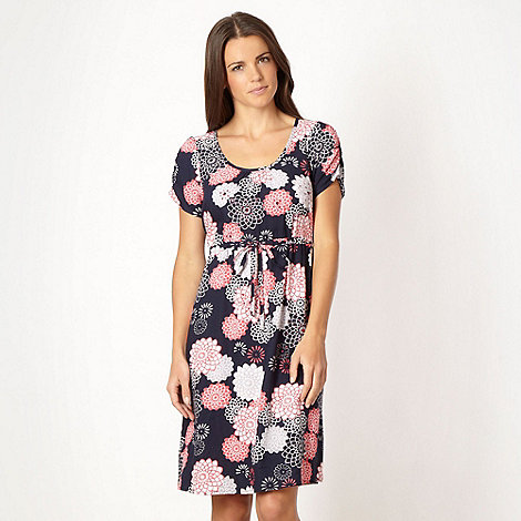 The Collection - Navy blue floral print jersey dress