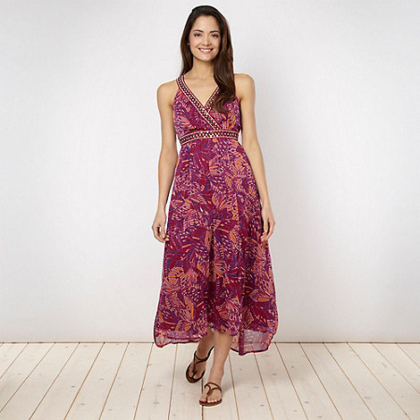 The Collection - Plum tribal butterfly embellished dress