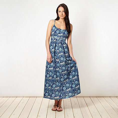 The Collection - Blue woven floral maxi dress