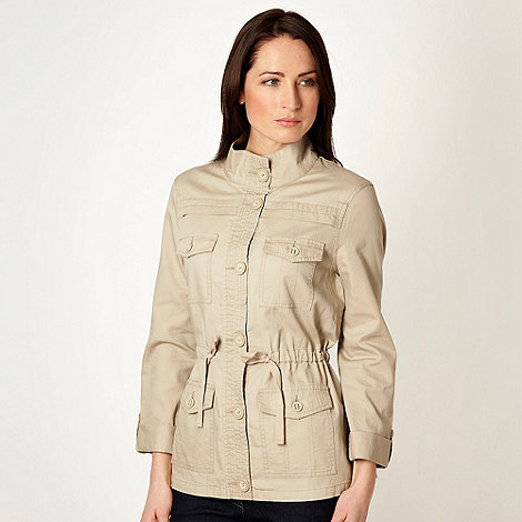 The Collection - Beige herringbone jacket