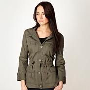 Khaki herringbone jacket