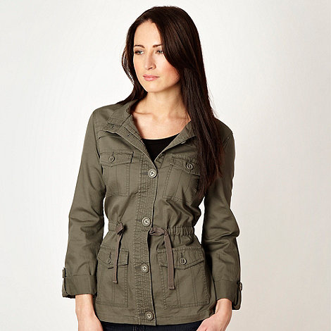 The Collection - Khaki herringbone jacket