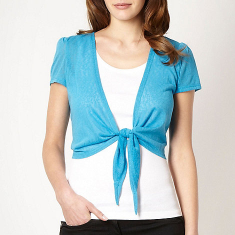 The Collection - Turquoise tie front shrug