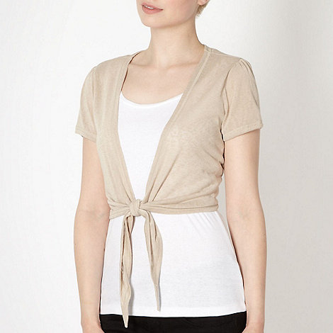 The Collection - Beige tie front shrug
