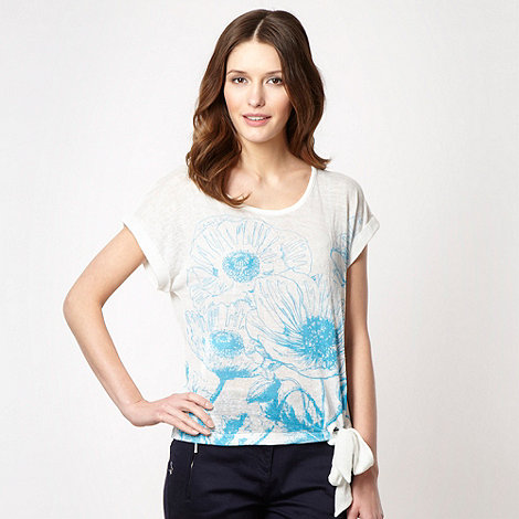 The Collection - Turquoise placement flower print top