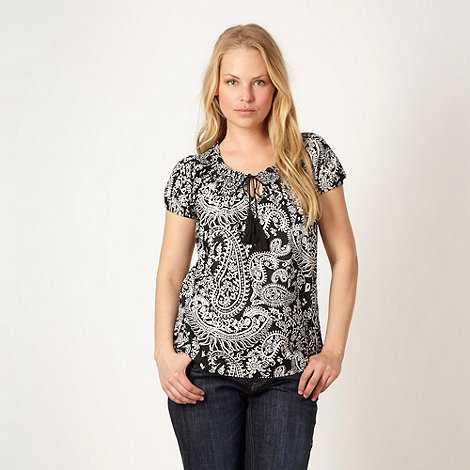 The Collection - Black paisley gypsy top