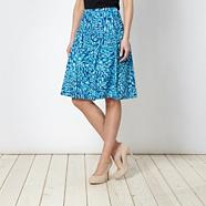 Turquoise smudge spotted skirt