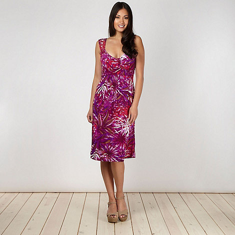 The Collection - Purple orchard jersey dress