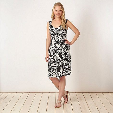 The Collection - Black tropical jersey dress