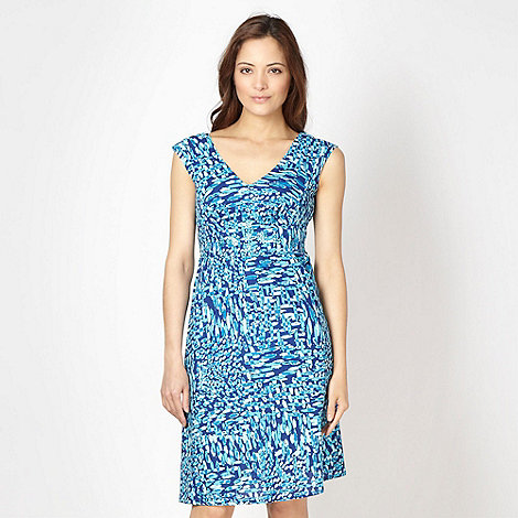 The Collection - Turquoise smudge spotted dress