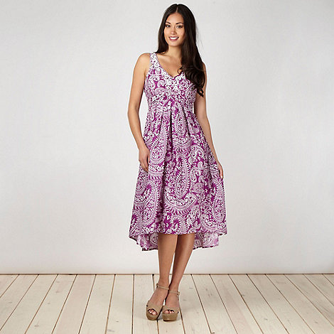 The Collection - Purple paisley dress