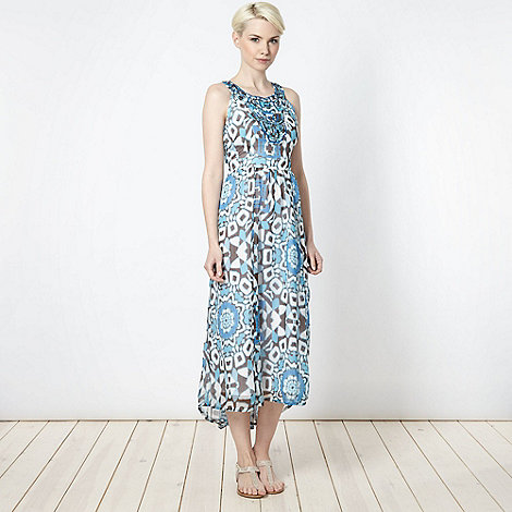 The Collection - Online exclusive - Blue totem maxi dress
