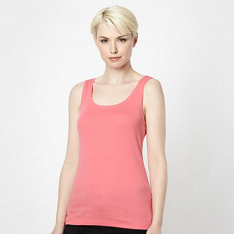 The Collection - Rose plain scoop neck vest