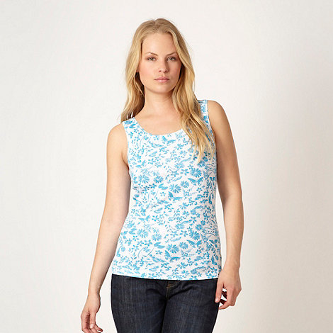 The Collection - Turquoise butterfly and floral printed vest