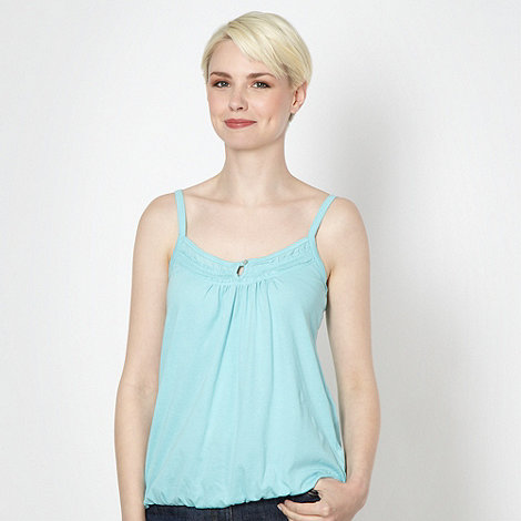 The Collection - Aqua shirred frilled camisole