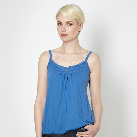 The Collection - Royal blue shirred frilled camisole