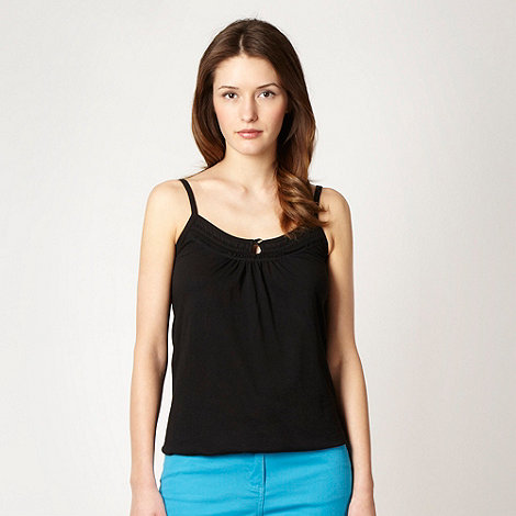 The Collection - Black shirred panel jersey camisole