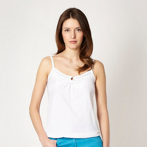 The Collection - White shirred panel jersey camisole
