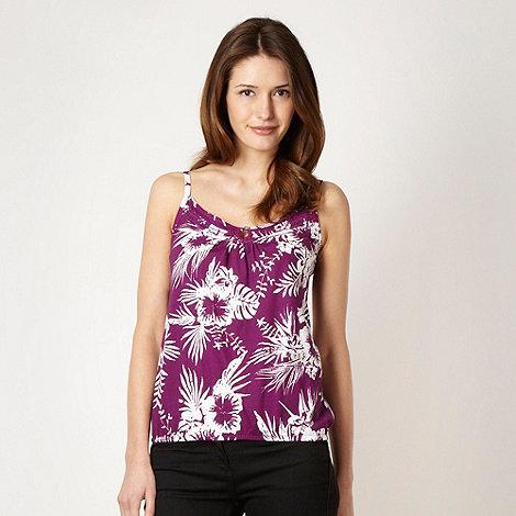 The Collection - Purple palm button vest