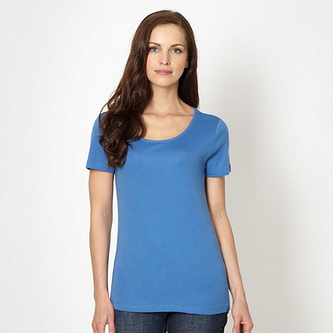 The Collection - Royal blue scoop neck t-shirt