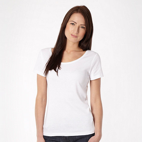 The Collection - White scoop neck t-shirt